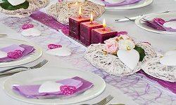 Un chemin de table à la fête des mères pour Question, Info