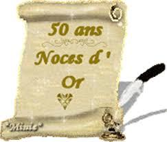 Anniversaire de mariage, 50ans noces d'or